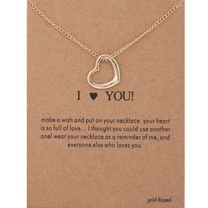 COMING SOON!! Open Heart 'Love' Charm Necklace